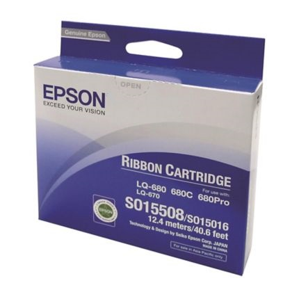 C13S015508 - LQ-670/680/680 Pro Ribbon Cartridge (Black)