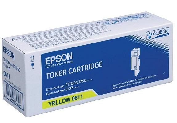 C13S050611 -  CX17/C1700/C1750N Series High Capacity Toner Cartridge (Yellow)