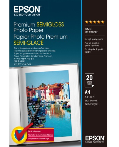 C13S041332 - Premium Semi-Glossy Photo Paper (A4)