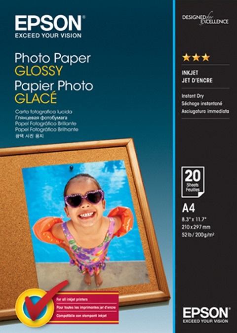 C13S042538 - Photo Paper GLOSSY (A4)(20 Sheets)